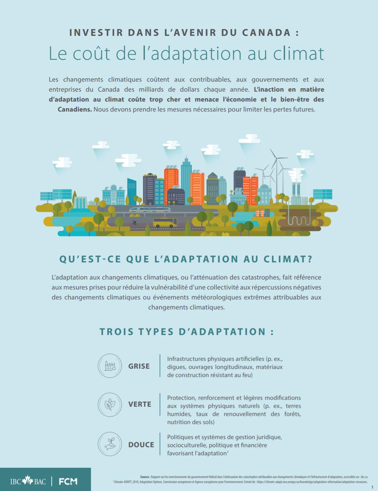 Le coût de l'adaptation au climat sommaire